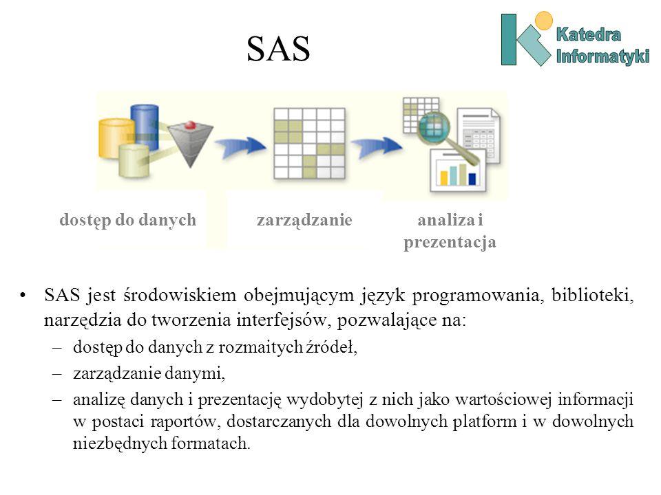 SAS dostęp do danych. zarządzanie. analiza i prezentacja.