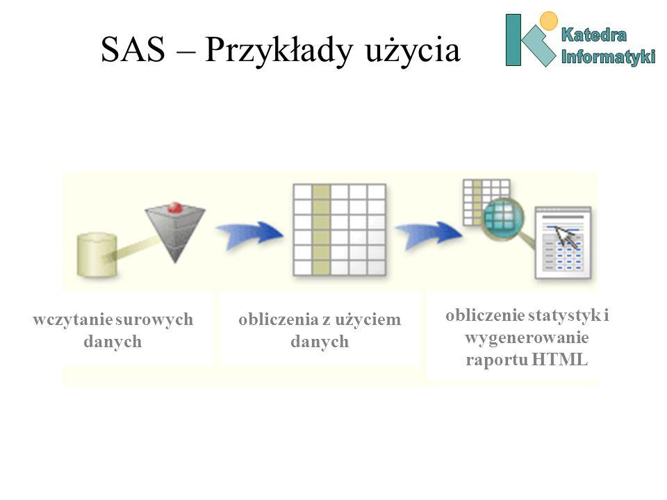 SAS – Przykłady użycia wczytanie surowych danych