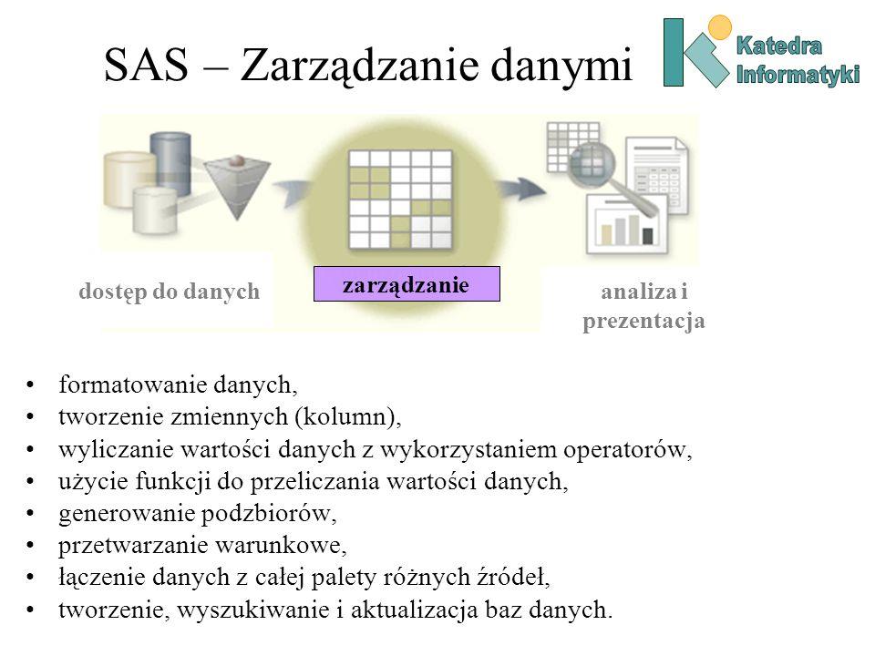 SAS – Zarządzanie danymi
