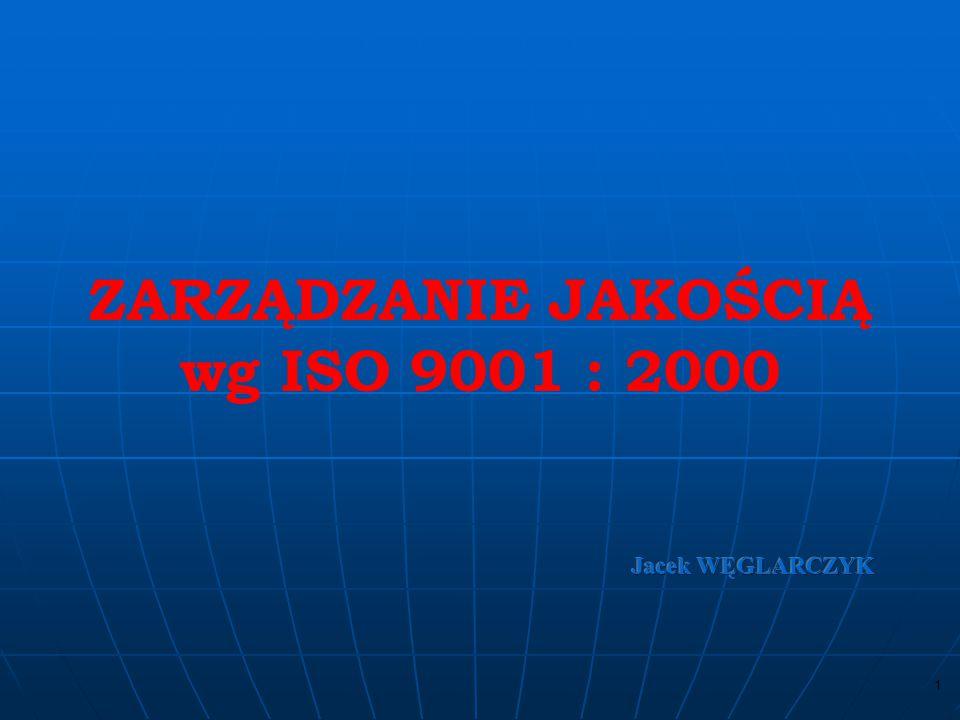 ZARZĄDZANIE JAKOŚCIĄ wg ISO 9001 : 2000
