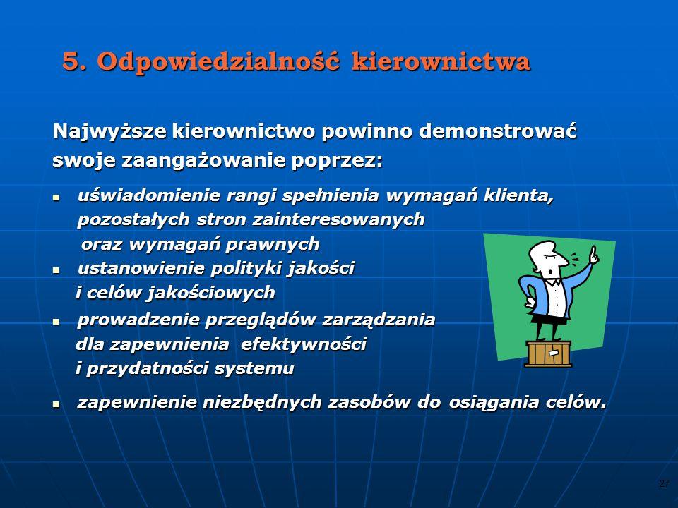 5. Odpowiedzialność kierownictwa