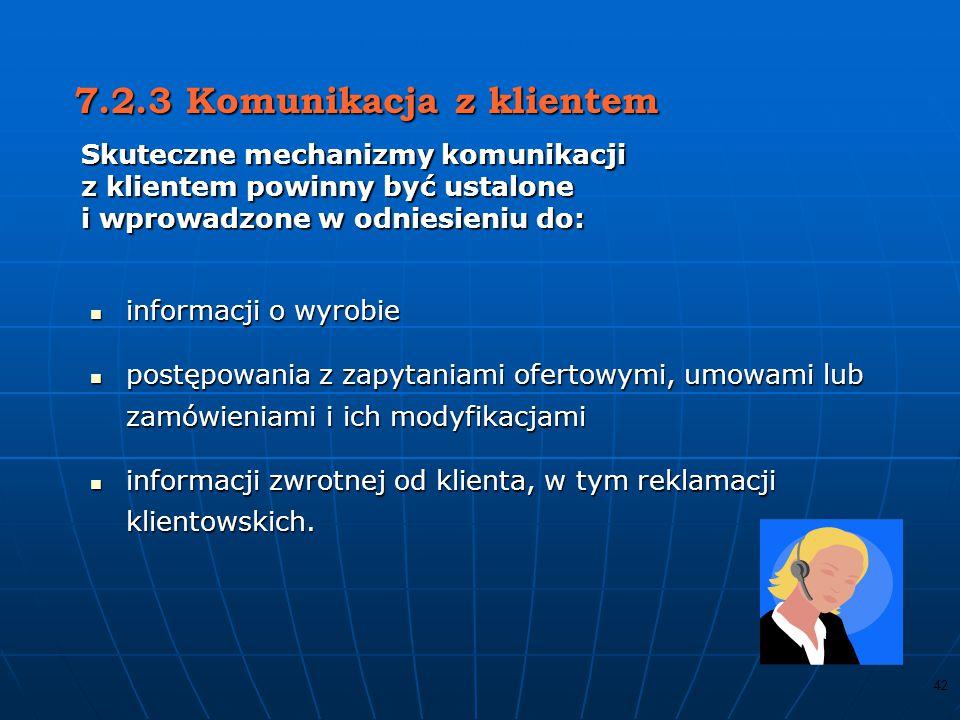 7.2.3 Komunikacja z klientem
