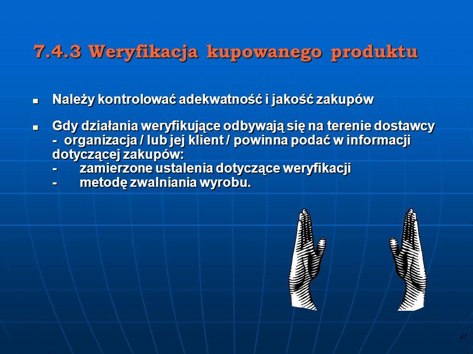 7.4.3 Weryfikacja kupowanego produktu