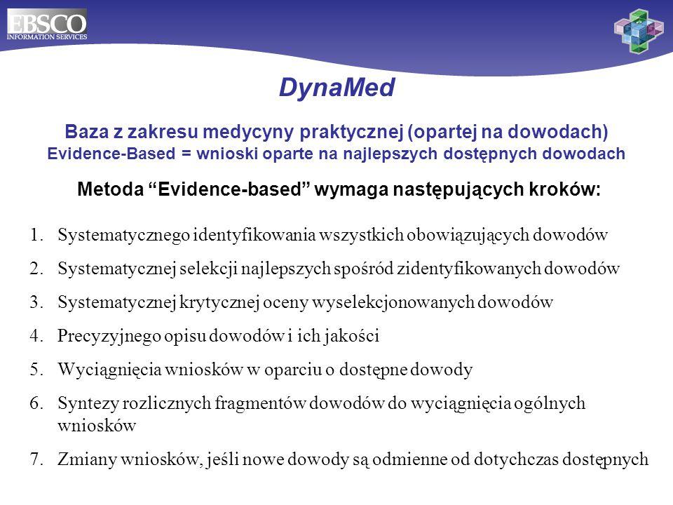 Metoda Evidence-based wymaga następujących kroków: