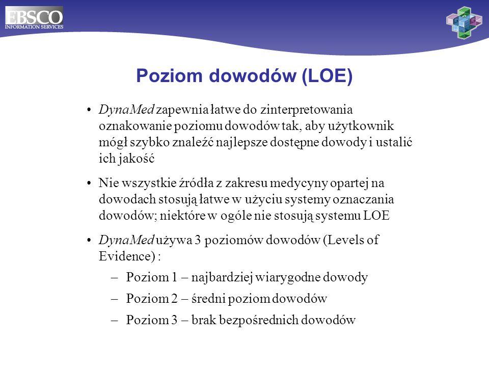 Poziom dowodów (LOE)