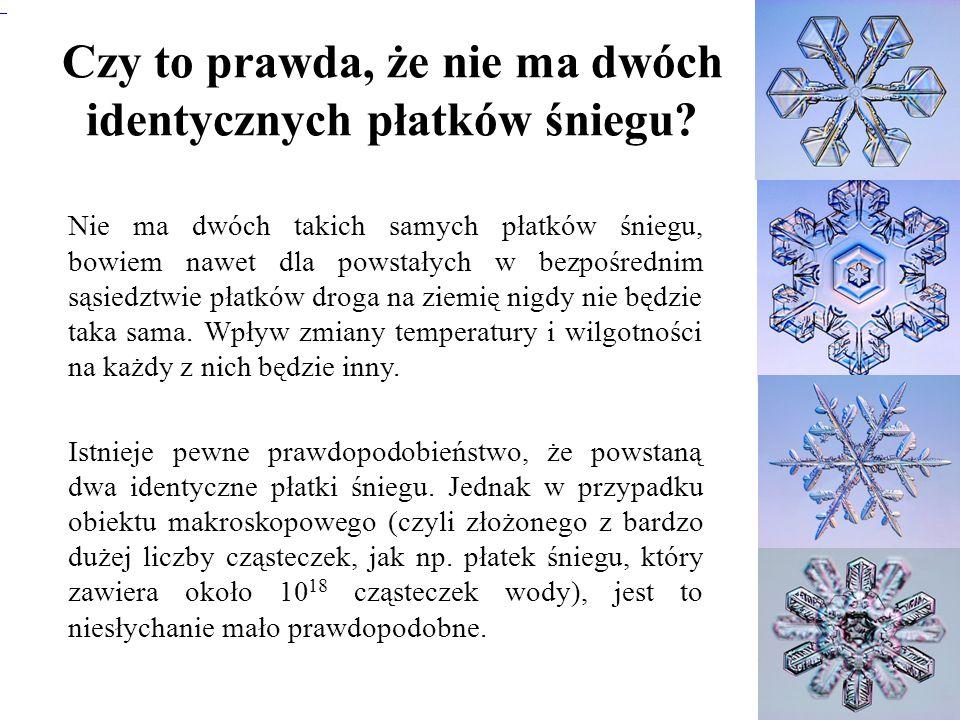 Czy to prawda, że nie ma dwóch identycznych płatków śniegu