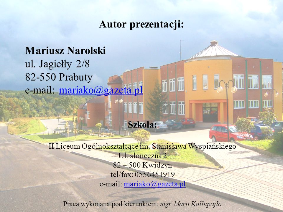 e-mail: mariako@gazeta.pl