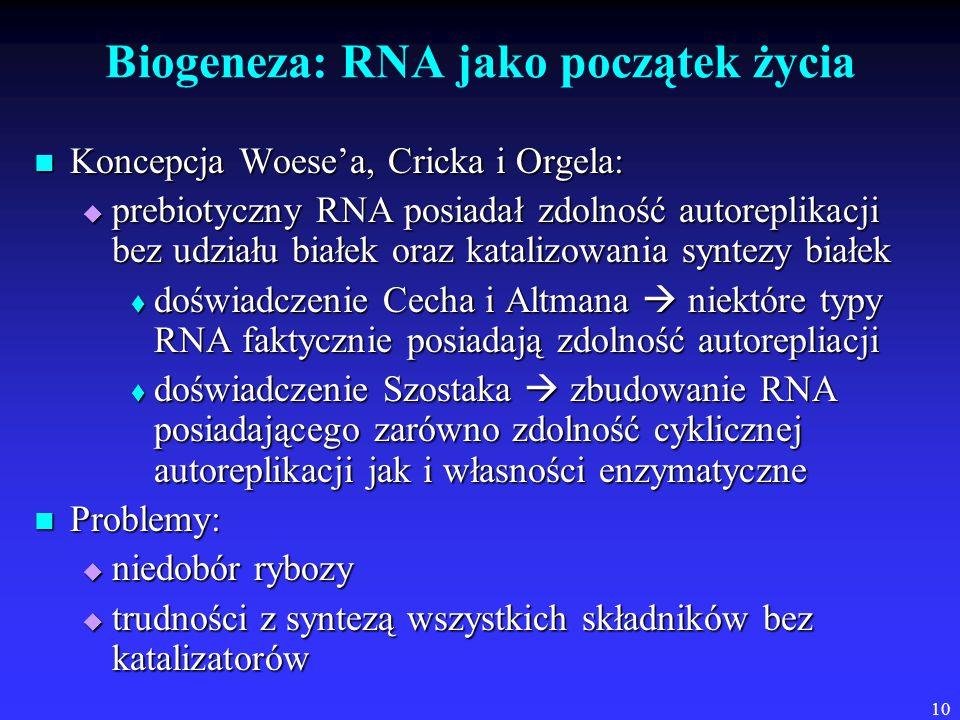 Biogeneza: RNA jako początek życia