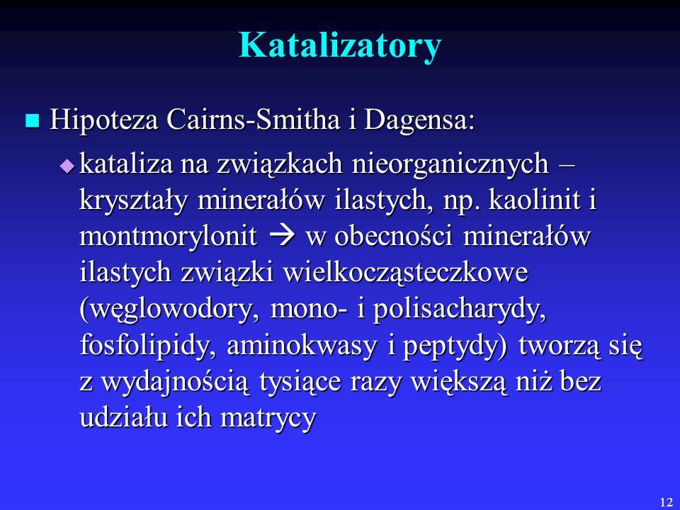 Katalizatory Hipoteza Cairns-Smitha i Dagensa: