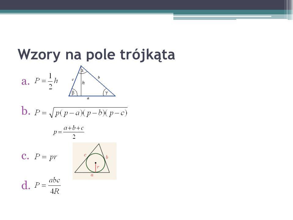 Wzory na pole trójkąta