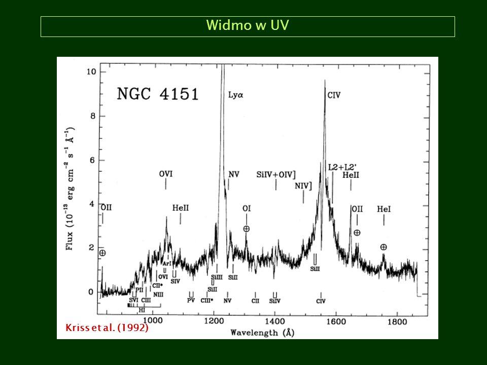 Widmo w UV Kriss et al. (1992)