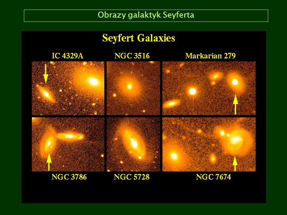 Obrazy galaktyk Seyferta