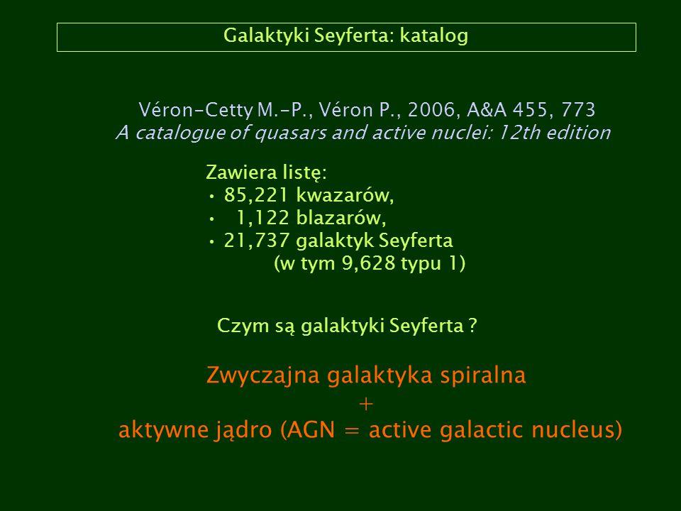 Galaktyki Seyferta: katalog