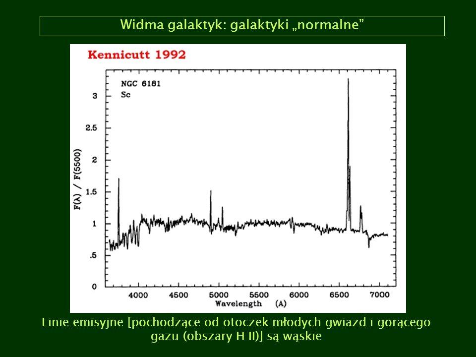 """Widma galaktyk: galaktyki """"normalne"""