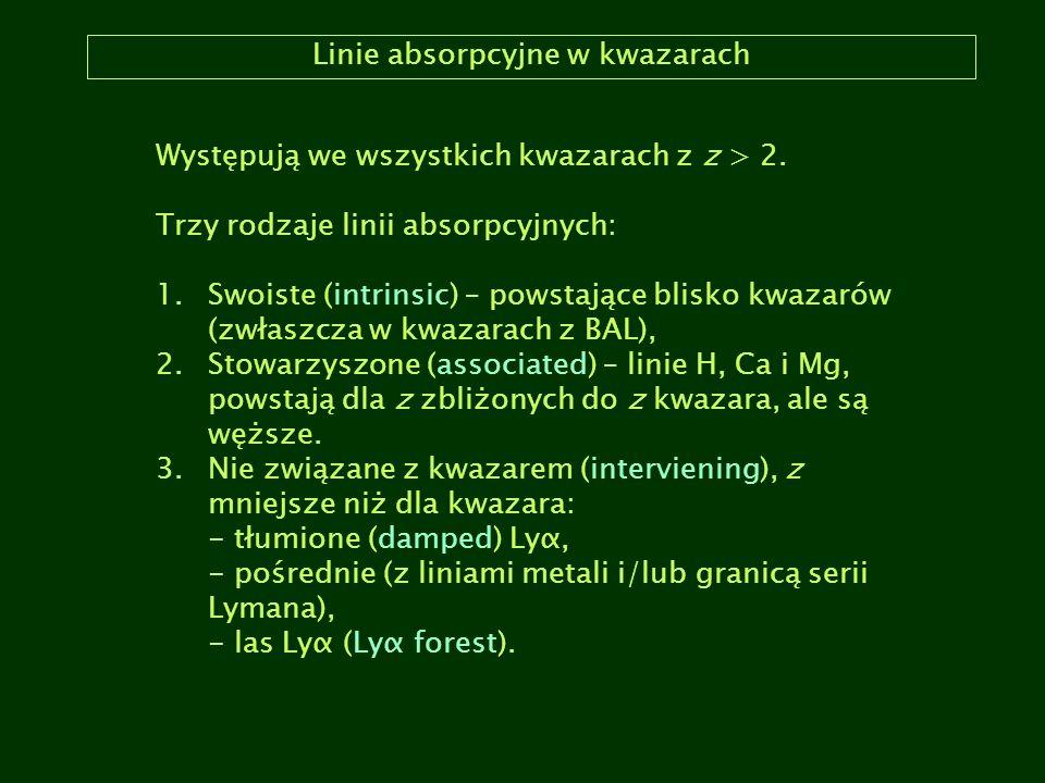 Linie absorpcyjne w kwazarach
