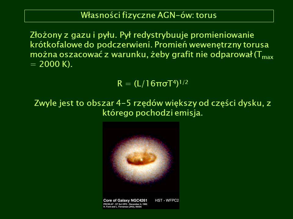 Własności fizyczne AGN-ów: torus