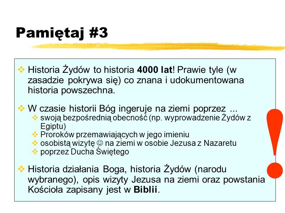 Pamiętaj #3 Historia Żydów to historia 4000 lat! Prawie tyle (w zasadzie pokrywa się) co znana i udokumentowana historia powszechna.