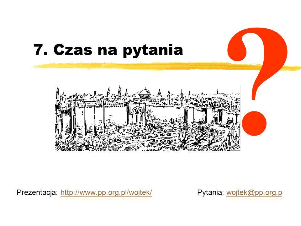 Prezentacja: http://www.pp.org.pl/wojtek/ Pytania: wojtek@pp.org.p