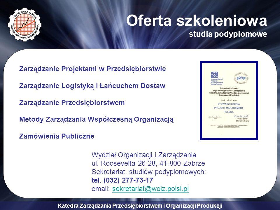 Oferta szkoleniowa studia podyplomowe