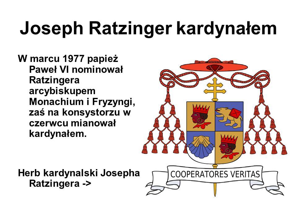 Joseph Ratzinger kardynałem