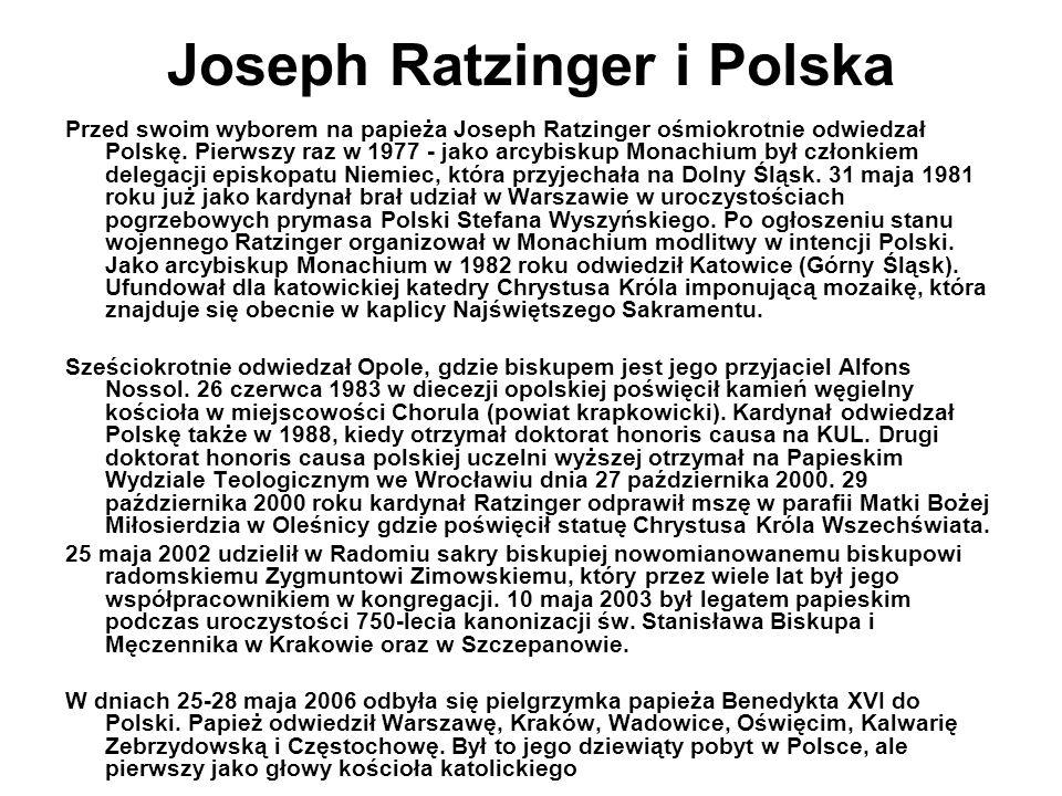 Joseph Ratzinger i Polska