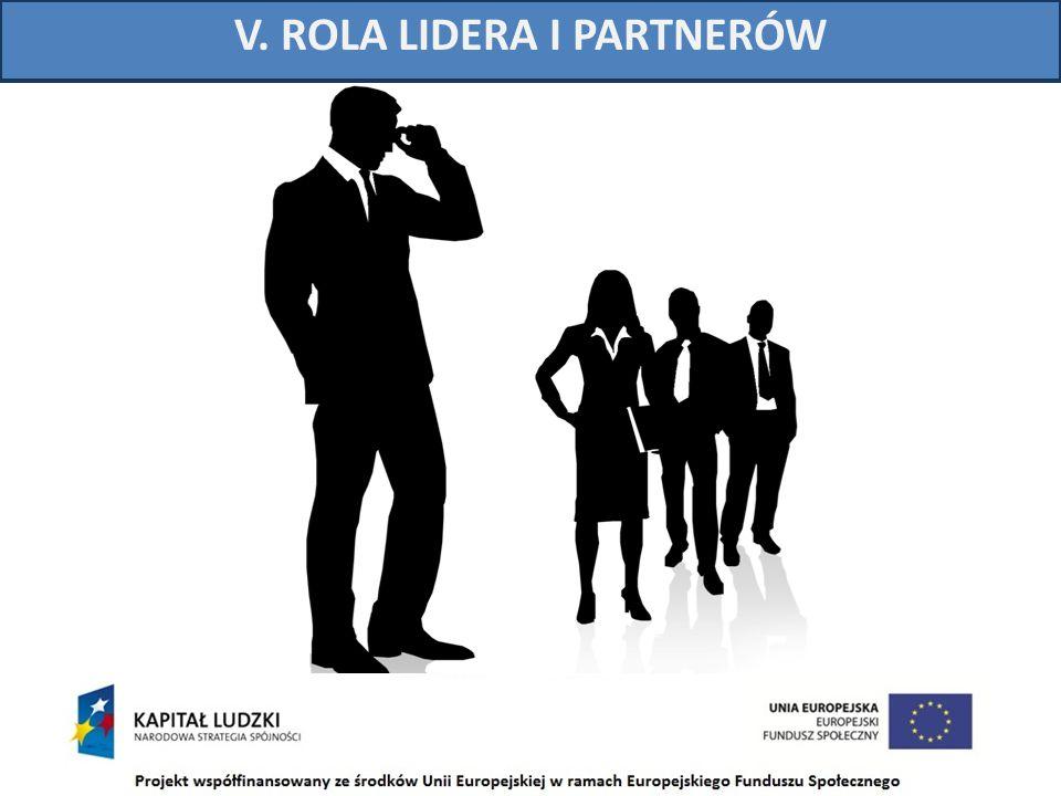 V. ROLA LIDERA I PARTNERÓW