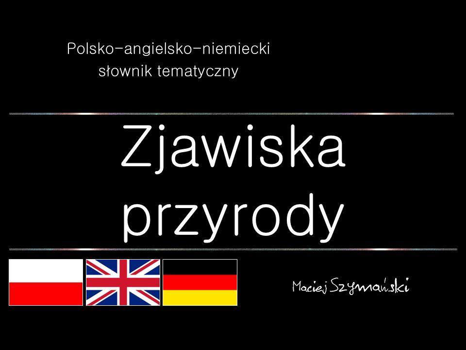 Polsko-angielsko-niemiecki słownik tematyczny