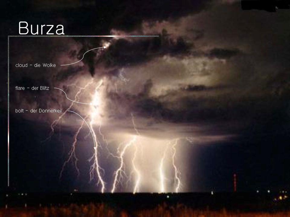 Burza cloud - die Wolke flare - der Blitz bolt - der Donnerkeil