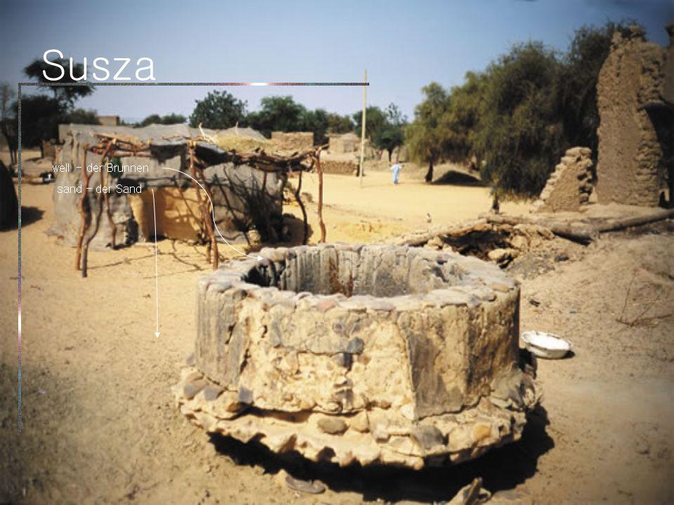 Susza well - der Brunnen sand – der Sand