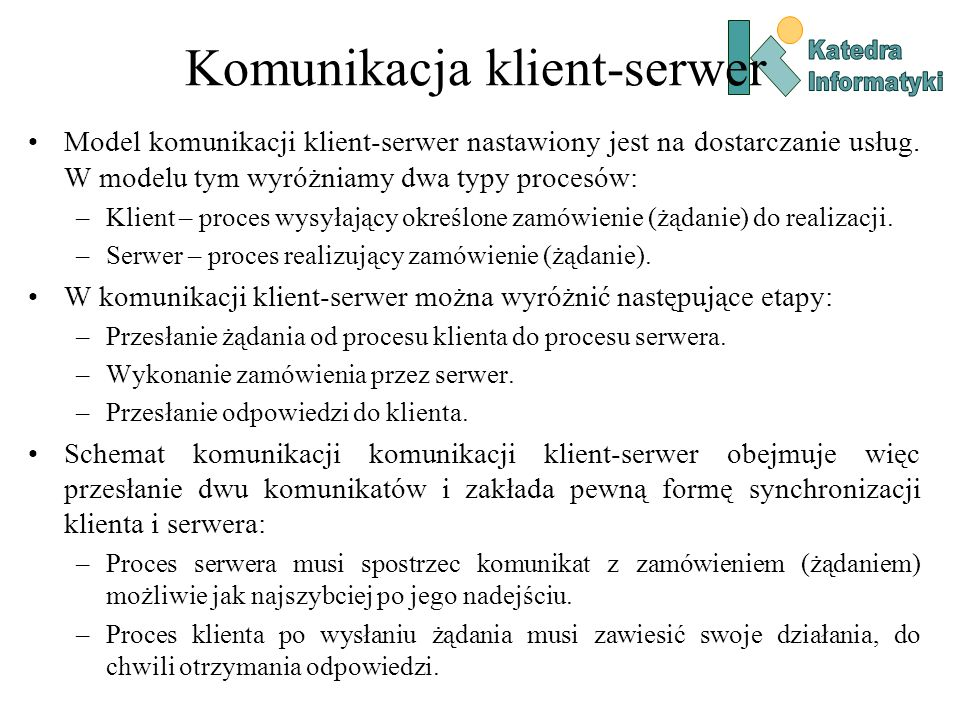 Komunikacja klient-serwer