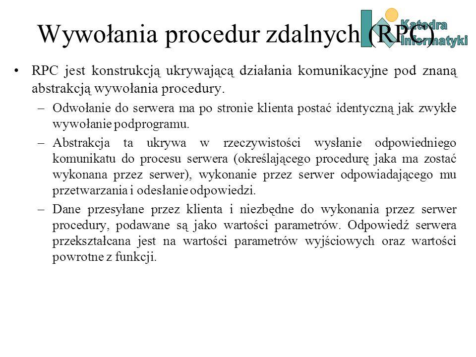Wywołania procedur zdalnych (RPC)