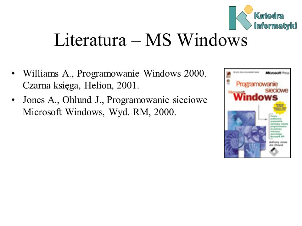 Literatura – MS Windows