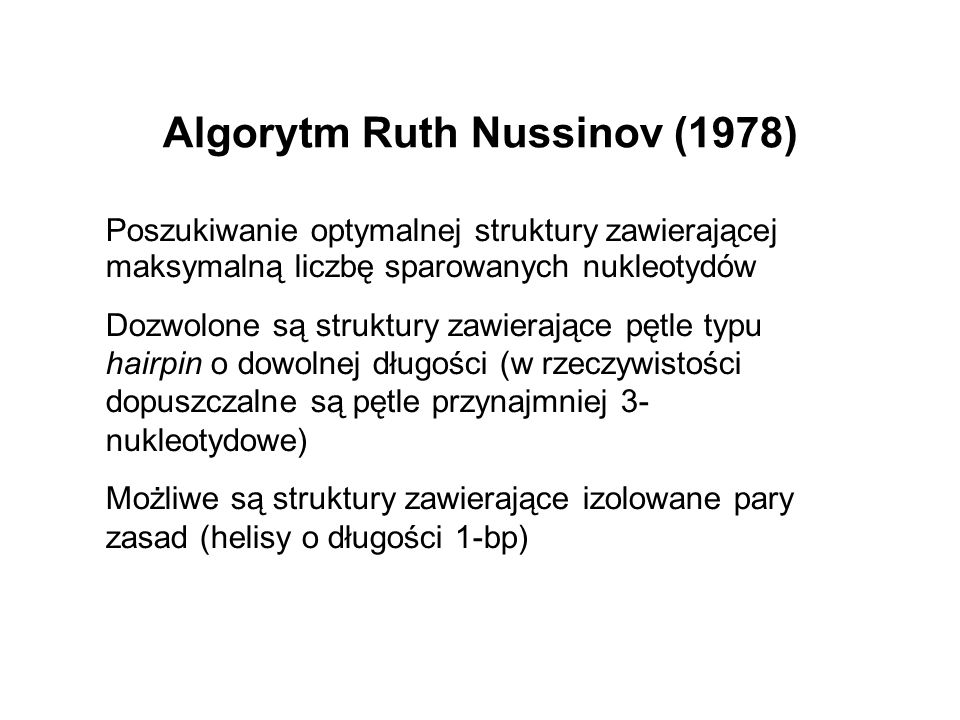 Algorytm Ruth Nussinov (1978)