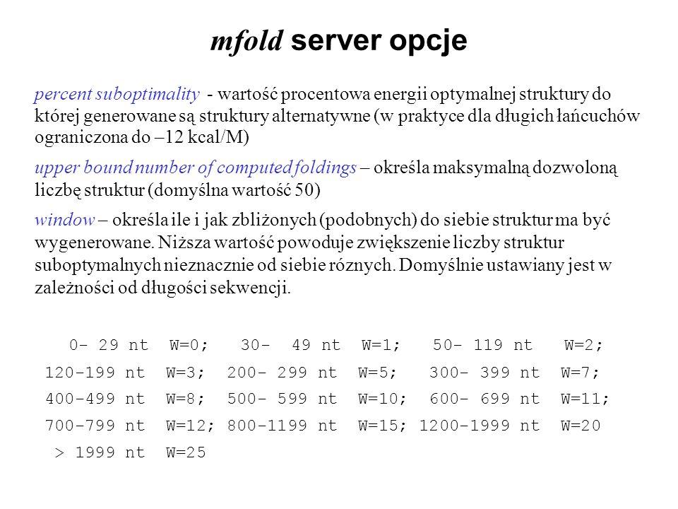 mfold server opcje