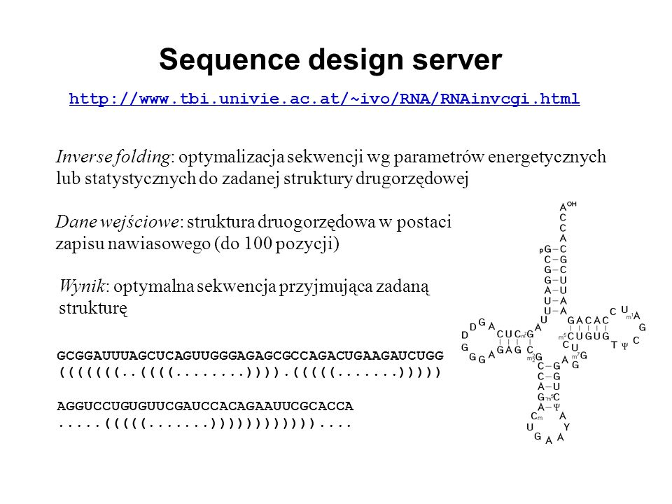 Sequence design server