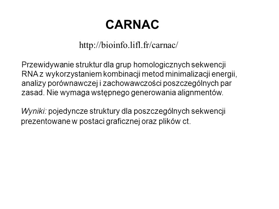 CARNAC http://bioinfo.lifl.fr/carnac/