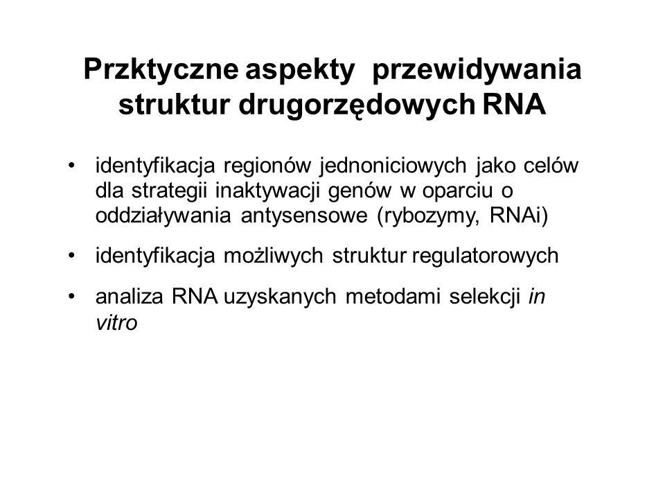 Przktyczne aspekty przewidywania struktur drugorzędowych RNA