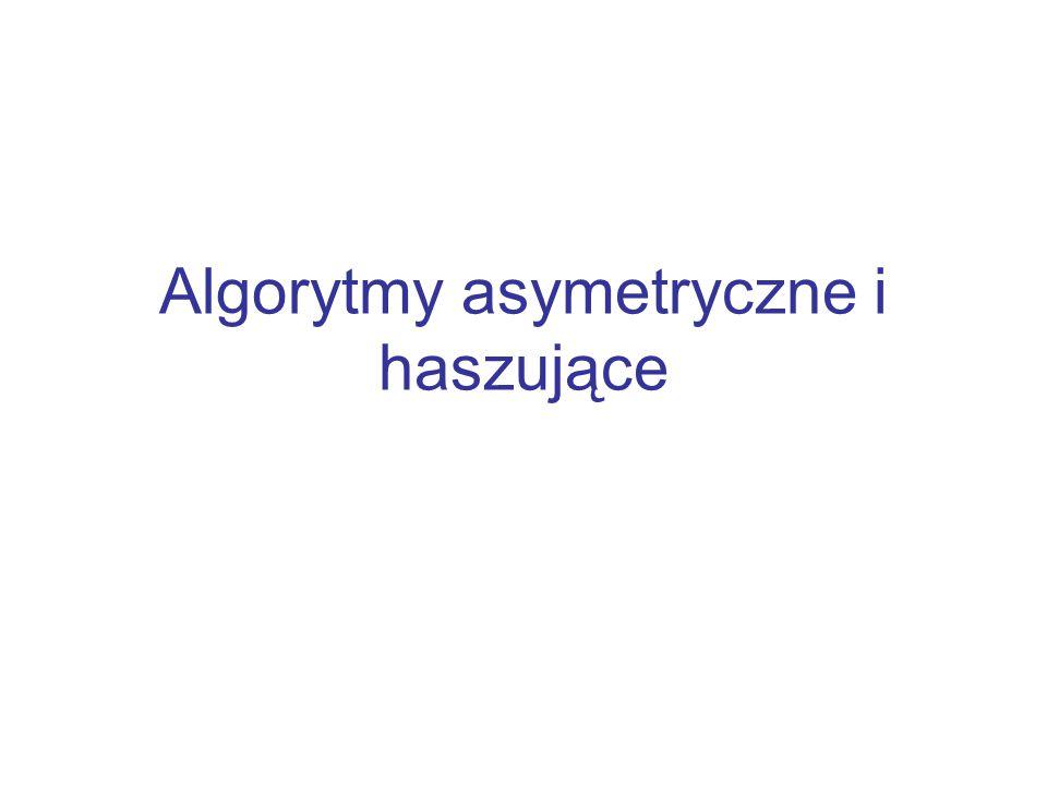 Algorytmy asymetryczne i haszujące