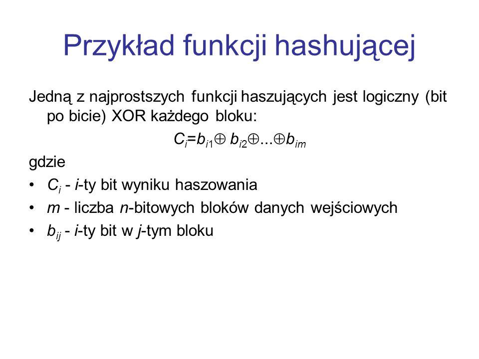 Przykład funkcji hashującej