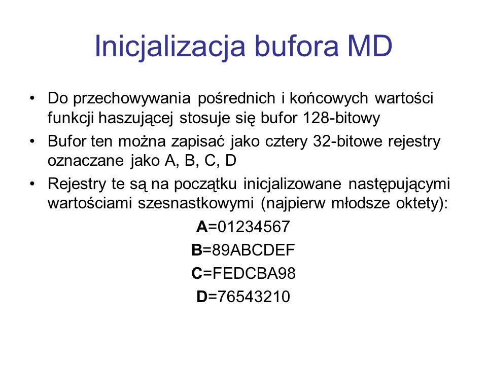 Inicjalizacja bufora MD