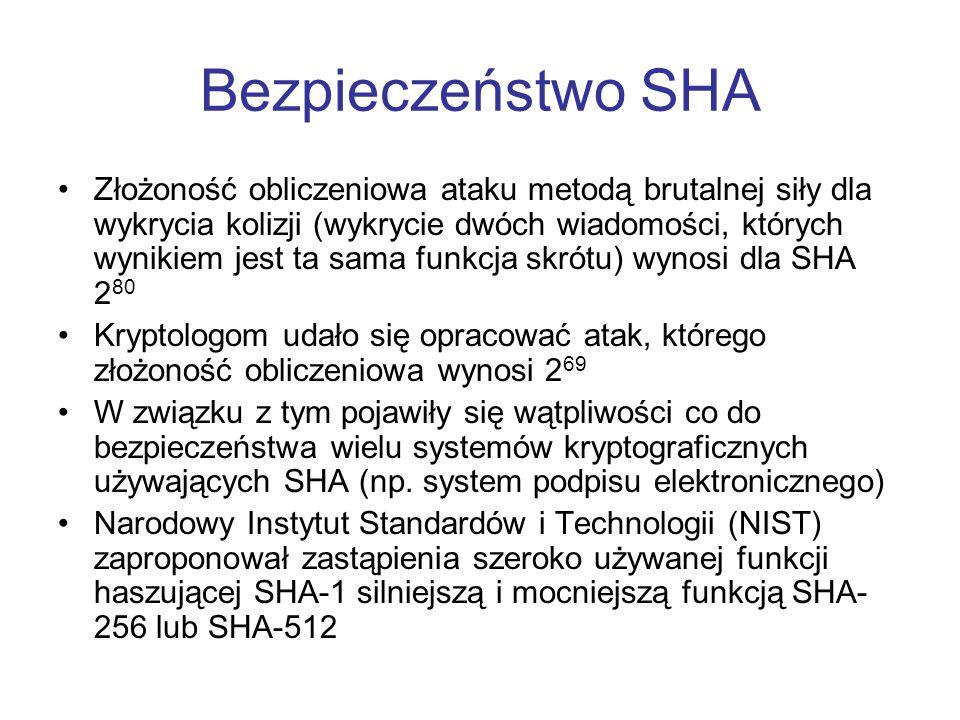 Bezpieczeństwo SHA