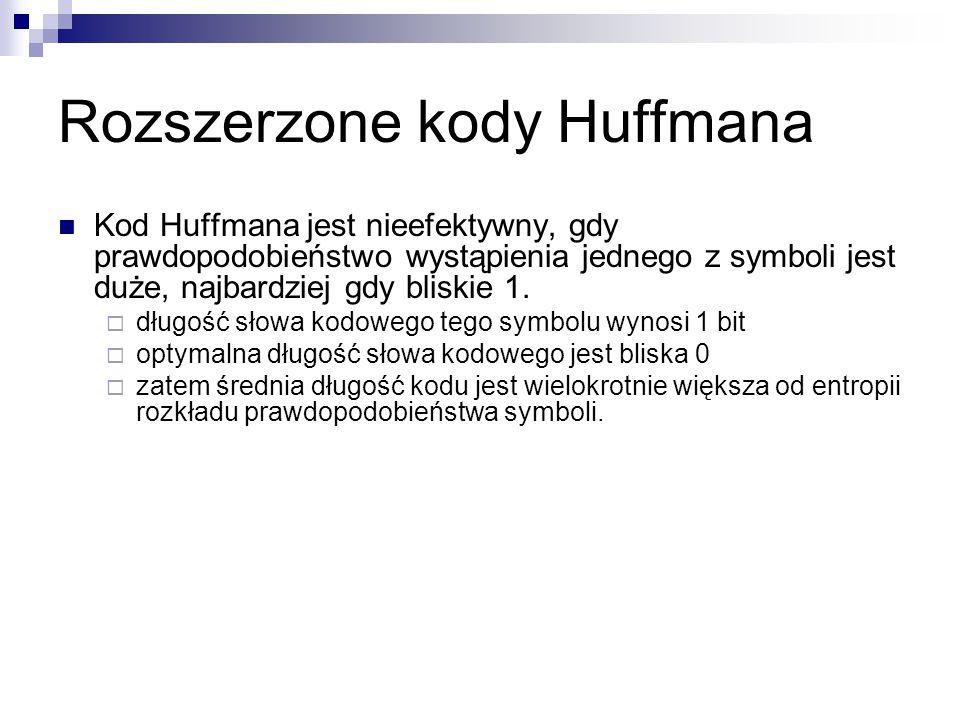 Rozszerzone kody Huffmana