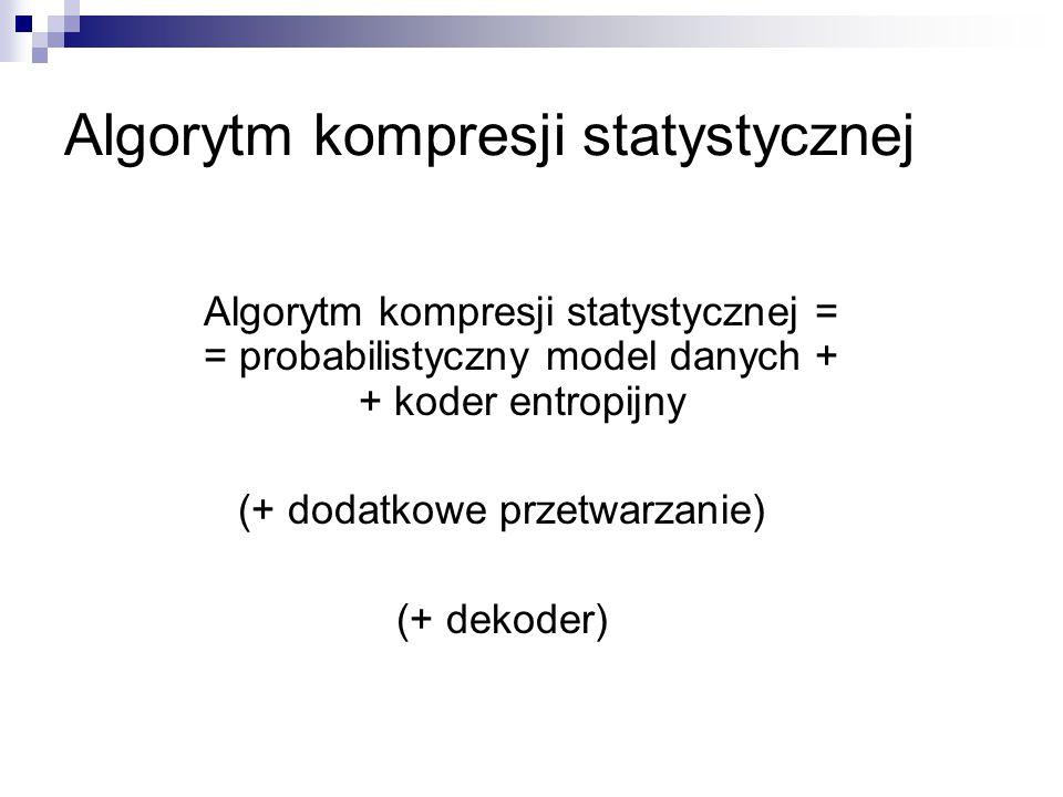 Algorytm kompresji statystycznej