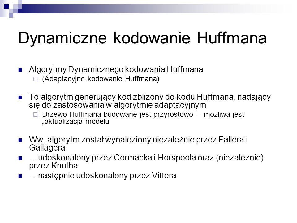 Dynamiczne kodowanie Huffmana