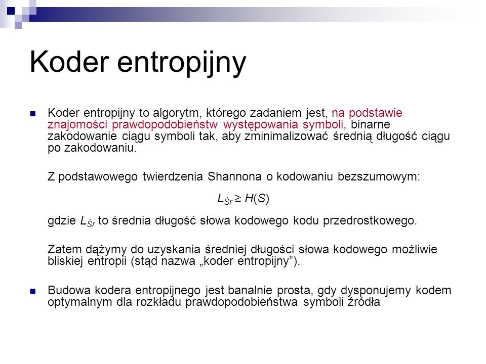 Koder entropijny