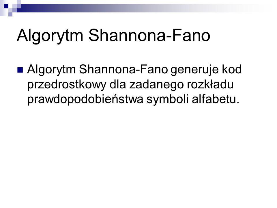 Algorytm Shannona-Fano
