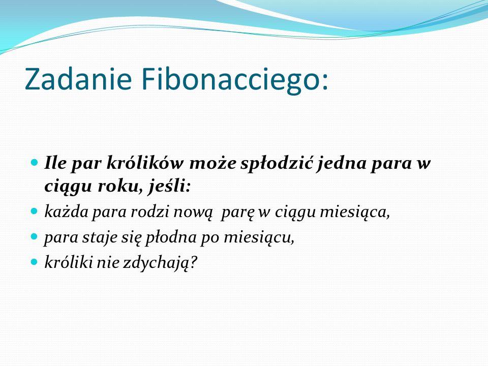 Zadanie Fibonacciego: