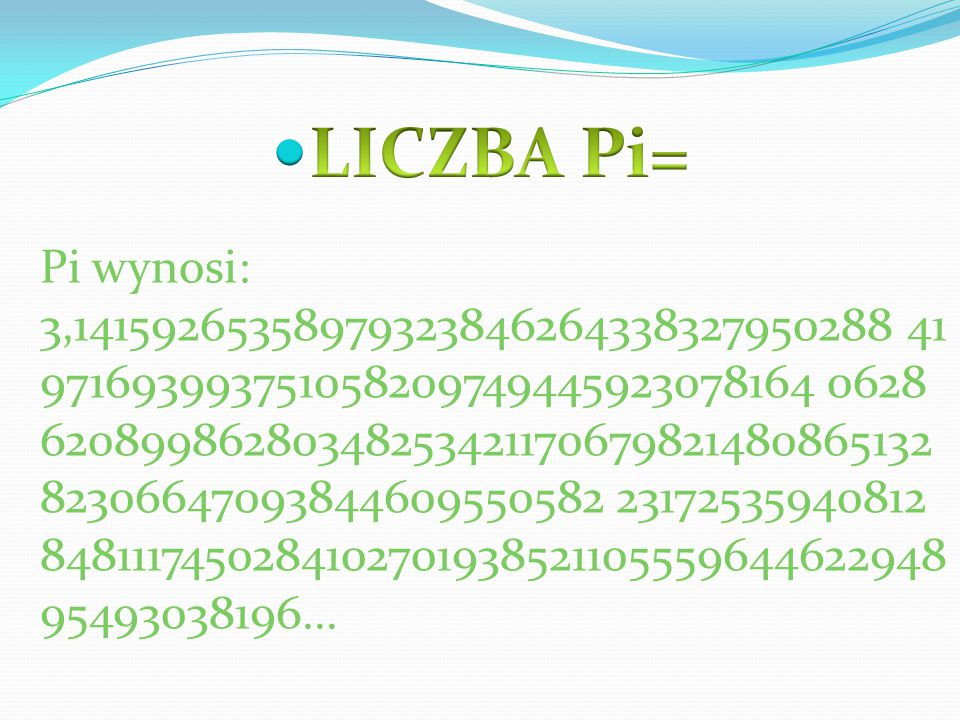 LICZBA Pi=