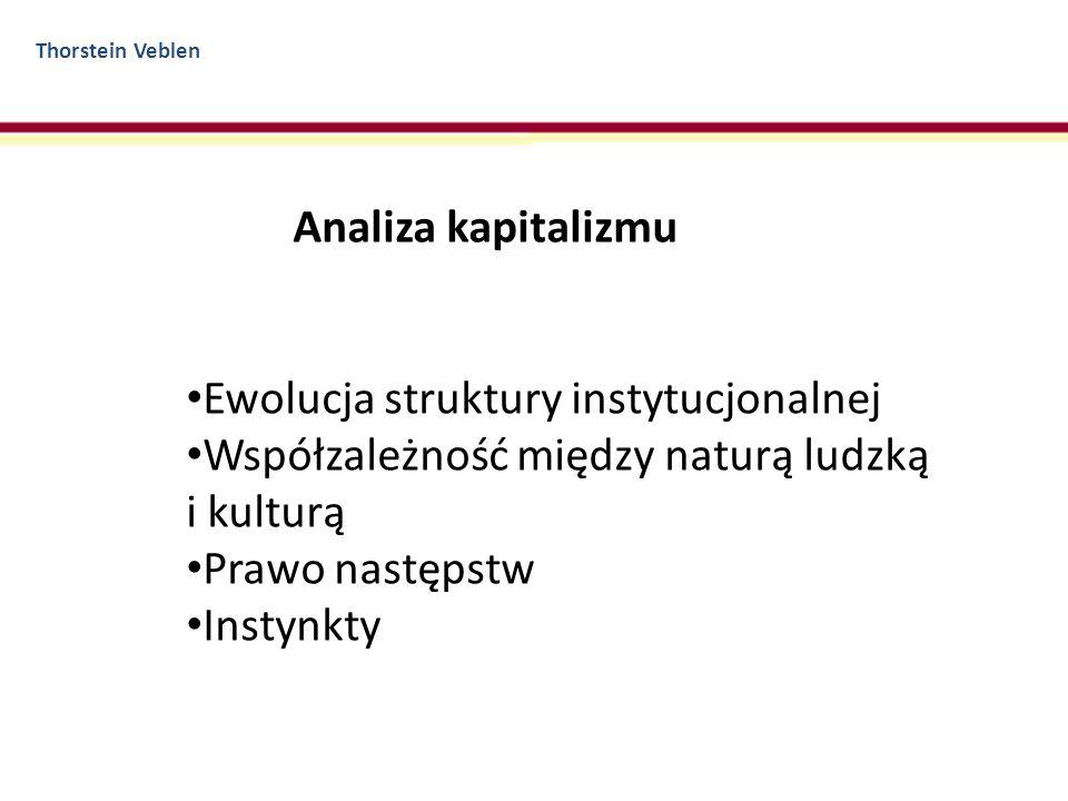 Ewolucja struktury instytucjonalnej