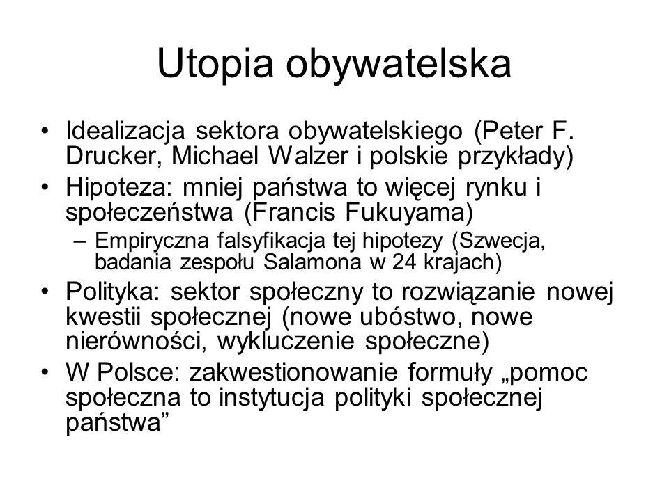 Utopia obywatelska Idealizacja sektora obywatelskiego (Peter F. Drucker, Michael Walzer i polskie przykłady)